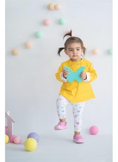 Nila Kids Butterfly Çift Yönlü Organik Kız Bebek Ceket Sarı